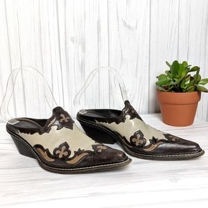 Donald J. Pliner Western Couture Collection Mules